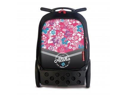 Školní taška na kolečkách Nikidom Roller Aloha  + Sportovní vak Nikidom Roller Sportsbag