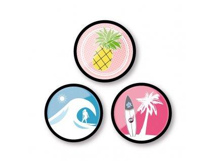 Sada odznáčků Nikidom Roller Pins Aloha