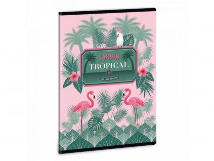 Ars Una Sešit pink flamingo A5 linkovaný