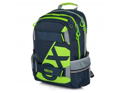 Studentský batoh OXY Sport NEON LINE Dark Blue
