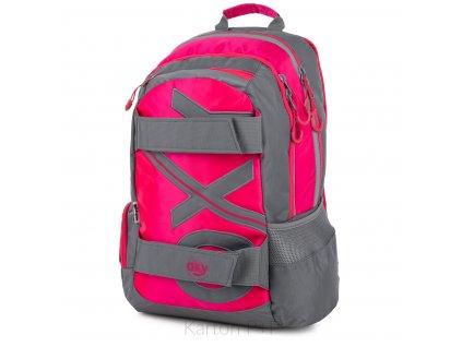 Studentský batoh OXY Sport NEON LINE Pink