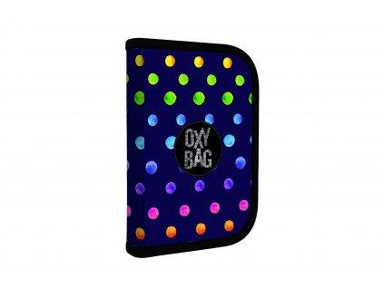 Penál 1 p. 2 chlopně, prázdný OXY Dots