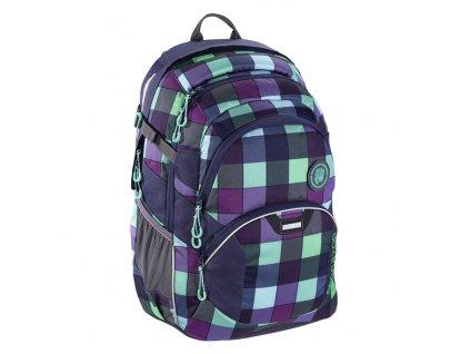 Školní batoh Coocazoo JobJobber2, Green Purple District  + Pytel na záda