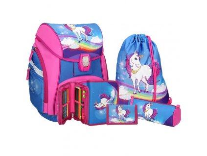 Školní aktovka SPIRIT Pro light Unicorn SET