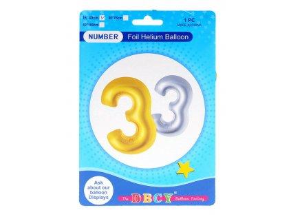 Nafukovací číslo - balonek 3