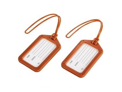 Visačky, štítky na zavazadlo - orange