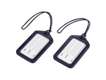 Visačky, štítky na zavazadlo - dark-blue