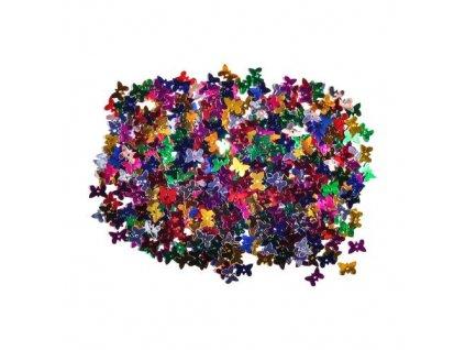 Dekorace motýli mix barev 11 mm 14 g