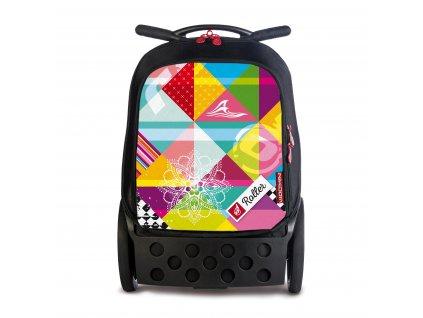 Školní taška na kolečkách Nikidom Roller Supergirl  + DÁREK Sportovní vak Nikidom Roller Sportsbag