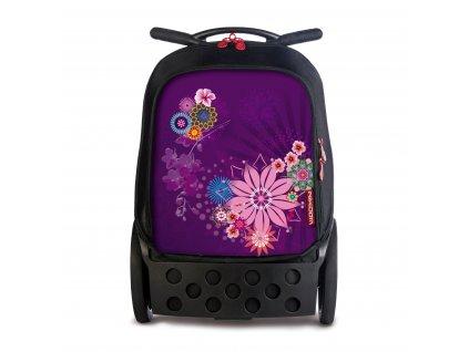 Školní taška na kolečkách Nikidom Roller Bloom  + DÁREK Sportovní vak Nikidom Roller Sportsbag