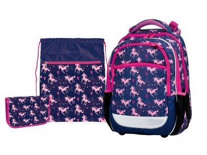 Školní batoh pro prvňáčky v setu - Pink Unicorn