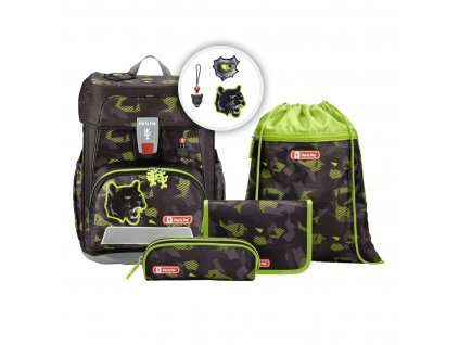 step by step cloud schulranzen set 5 teilig limited edition black cat M1