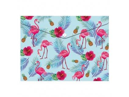 obal pp s patentkou a4 flamingo