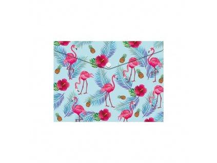 obal pp s patentkou a5 flamingo