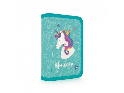 Penál do školy s chlopní, naplněný Unicorn iconic