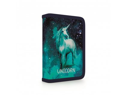 Penál do školy s chlopní, naplněný Unicorn 1