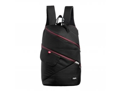 Zipit Looper batoh Premium Black + Bourdeaux