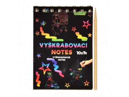 vyskrabovaci notes a6 10l