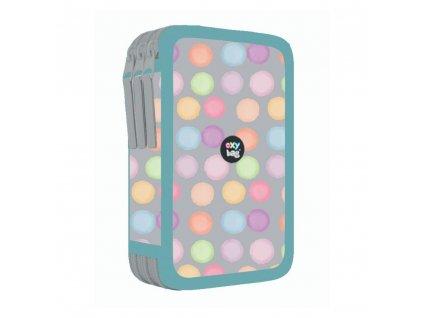 Penál 3 patra prázdný Oxybag - Style Mini Dots 2021