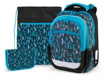 Školní batoh pro prvňáčky v setu - Stil - Indian blue