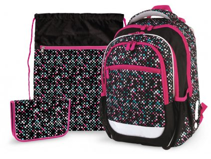 Školní batoh pro prvňáčky v setu - Stil - Dots