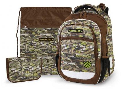 Školní batoh pro prvňáčky v setu - Stil - Military