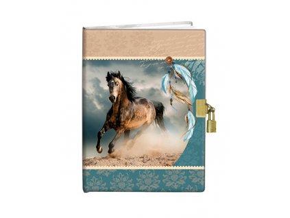 Památník A5 13x18cm se zámkem /5ks/ Indian horse