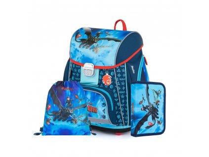 Školní batoh Oxybag v setu - Jak vycvičit draka 2021