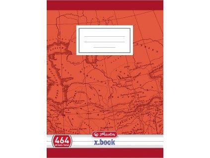 Školní sešit 464 - A4/60 listů, linka s okrajem