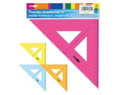 pravitko trojuhelnik s ryskou 16 cm transparentni barevne blistru