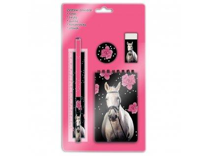 horse flower stationery set