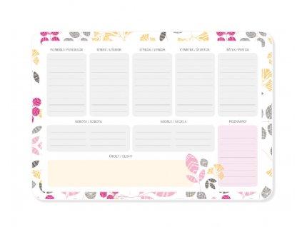 Podložka - stolní plánovač týdenní A4