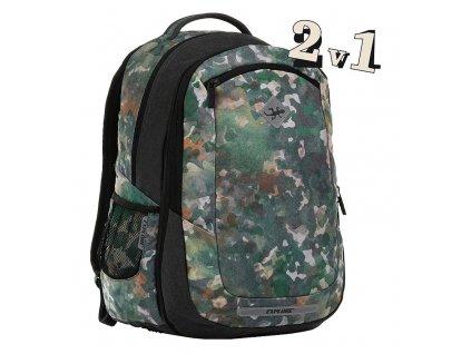 Školní batoh 2v1 BAR Army