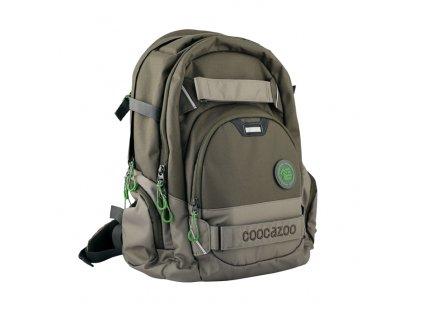 Školní batoh Coocazoo CarryLarry2 - Solid Woodsman  + sluchátka hama - zdarma