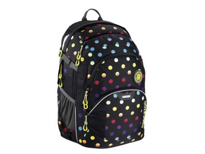 Školní batoh Coocazoo JobJobber2 - Magic Polka Colorful  + Pytel na záda
