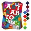 zlozka farebneho papiera vykres art carton ris a3 250g 50 ks mix 10 farieb x5