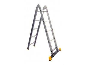 Kĺbový hliníkový rebrík 3x4 FORTE