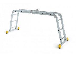 Kĺbový hliníkový rebrík 4x4 FORTE