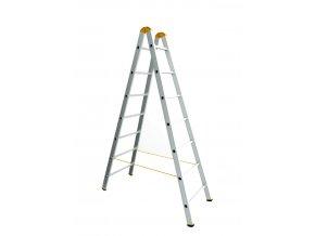 Dvojitý hliníkový rebrík 2x8 FORTE