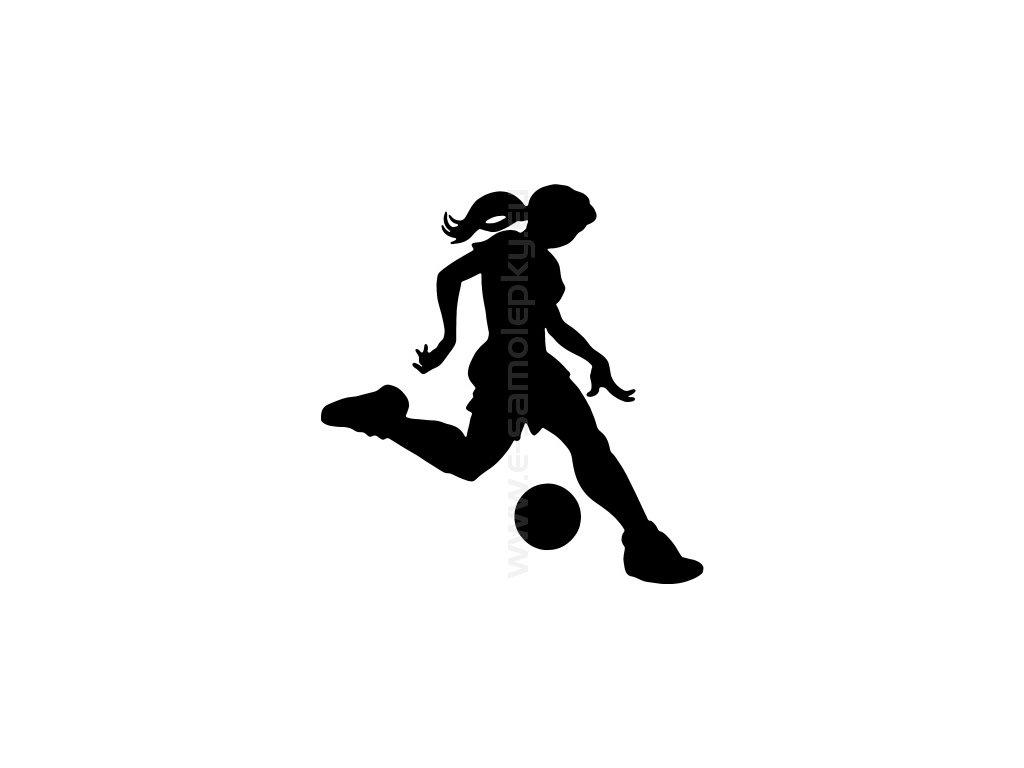 Samolepka Fotbalistka 02 E Samolepky Eu Samolepky Ktere Mluvi