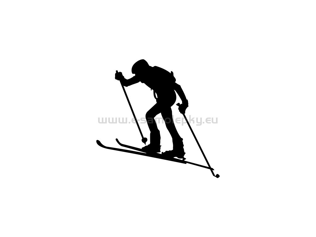 "f72bb3e0ba Samolepka - Skialpinista 02 - e-samolepky.eu ""samolepky"