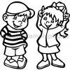 Samolepka - Dítě v autě - Kluk a holka 05