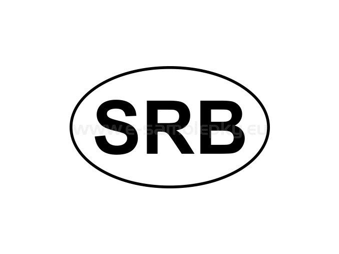 Samolepka - MPZ - Srbsko - SRB - BEZ BÍLÉHO PODKLADU
