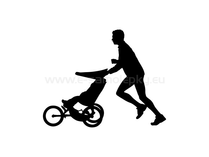 Samolepka - Jogging Stroller - muž
