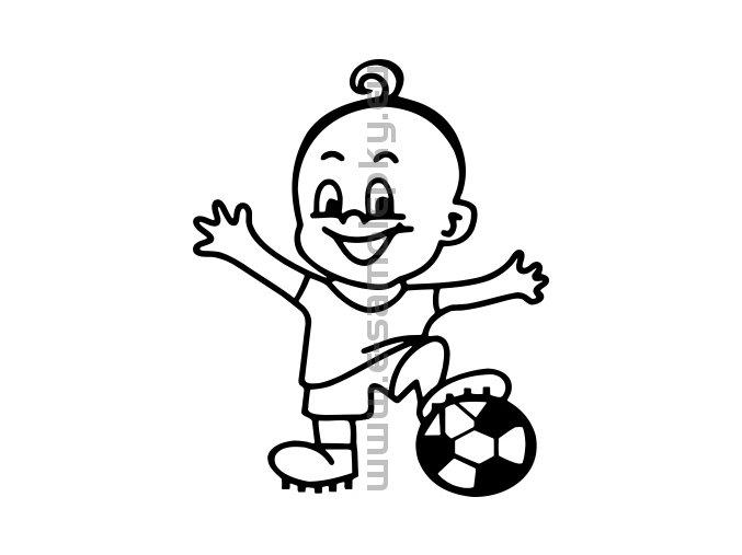 Samolepka - Dítě v autě - Kluk 11