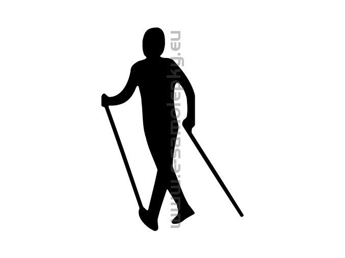 Samolepka - Nordic Walking 02