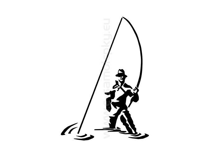 Samolepka - Rybář 09