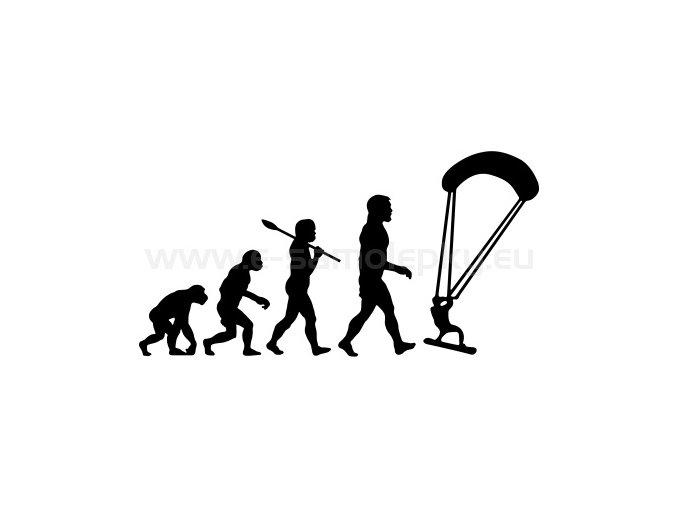 Samolepka - Kiteboarding evoluce