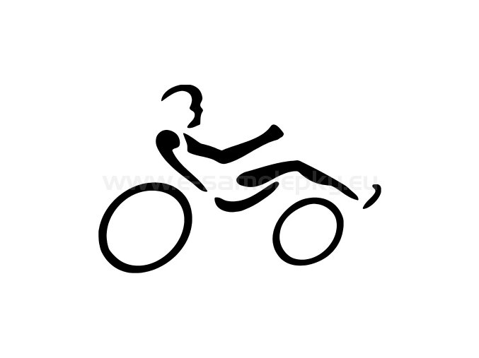 Samolepka - Cyklista lehokolo