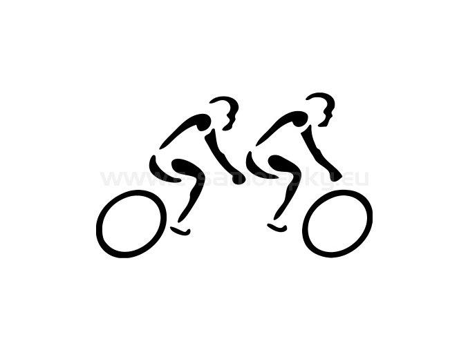 Samolepka - Cyklista tandem